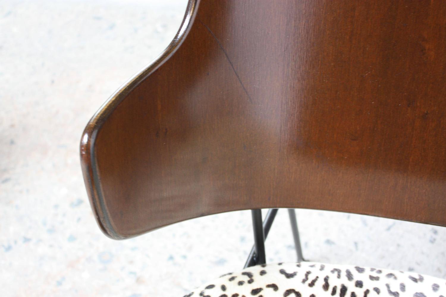 Home / Shop / Chairs / Ottomans / Rare IB Kofod Larsen Penguin Chairs And  Ottoman In Leopard Print Appaloosa Hair