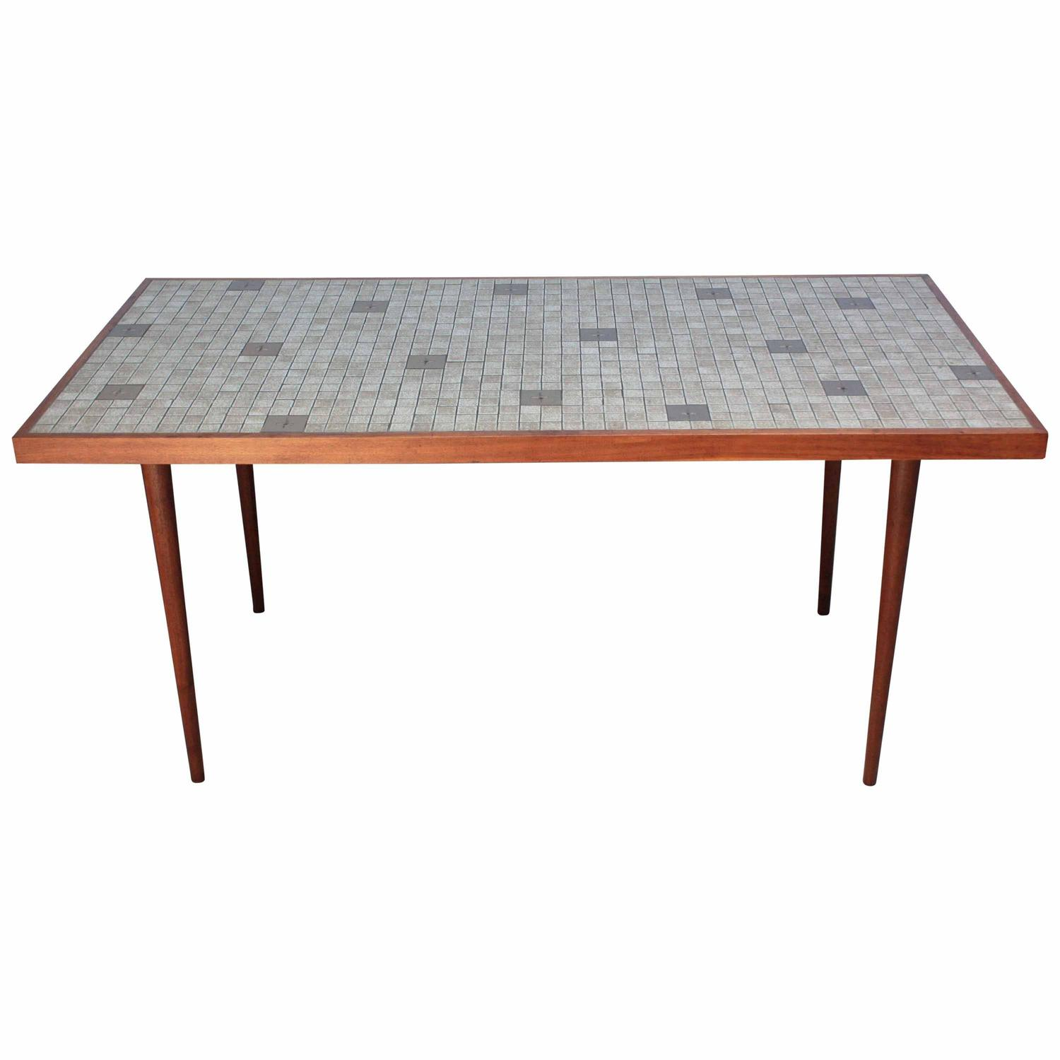 Martz for Marshall Studios Tile Top Dining Table – Jarontiques