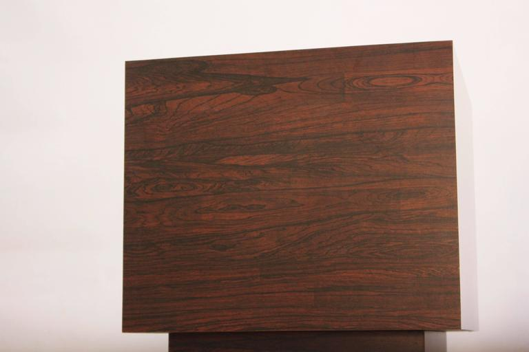 Home / Shop / Tables / Diminutive Rosewood And Laminate Cube End Tables