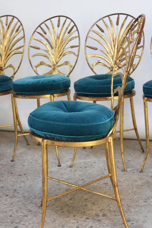 Home / Shop / Sold / Set Of Six Hollywood Regency Style Italian Gilded  Chairs By S. Salvadori