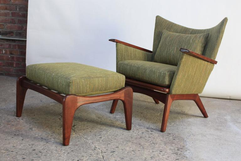 Home / Shop / Sold / Adrian Pearsall For Craft Associates Walnut Lounge  Chair And Ottoman