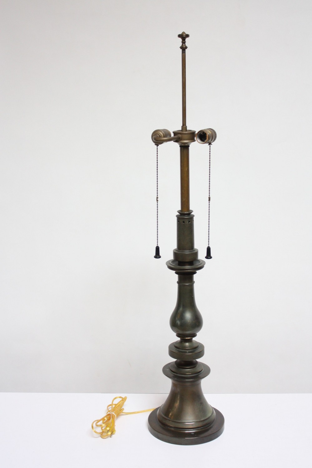 Oversized Stiffel Brass Table Lamp With Double Socket Jarontiques